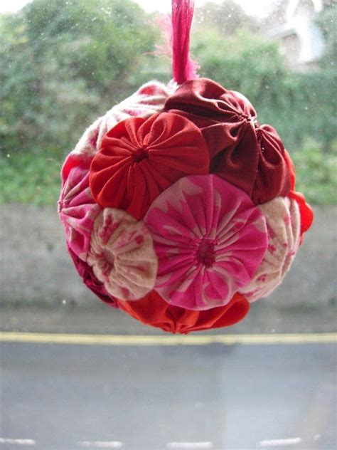 puff suffolk ball yo christmas fabric styrofoam balls projects step project bauble cut craft tree keep ornament sewing