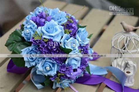Beautiful Romantic Pe Wedding Bouquet Pink Artificial Rose