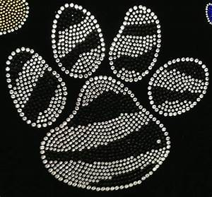 paw 7quot zebra rhinestone transfer iron on With iron on bling letters craft supplies