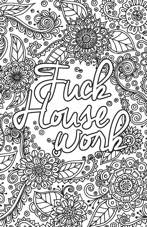 Adult coloring pages that say exactly what you need to