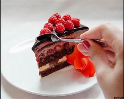 Slice Chocolate Makeagif Cake Postres Frutas Guardado