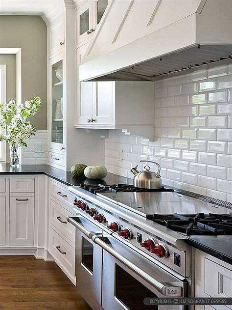 classy subway tile backsplash  kitchen  bathroom