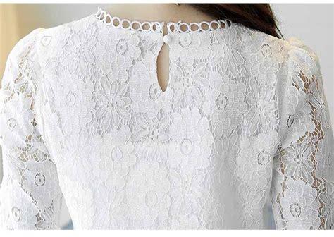 Wk100556 Baju Import baju atasan putih brokat import 2018 myrosefashion