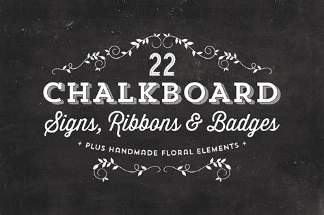 chalkboard logo templates free chalkboard signs ribbons badges objects on creative