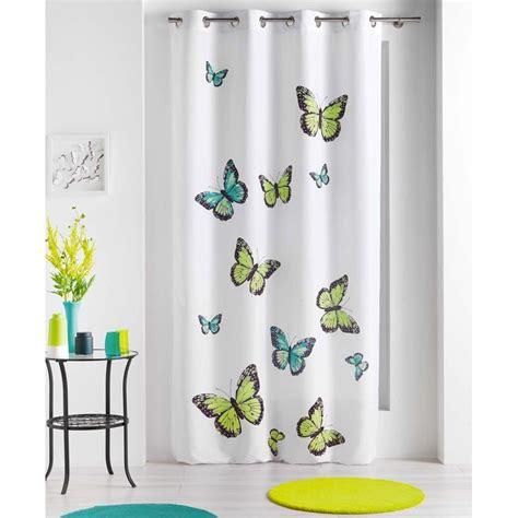 Rideau Papillons Bella Vert 140x240cm