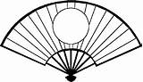 Fan Coloring Hand Held Clipart Dance Fans Drawing Japan National Drawings Pages sketch template