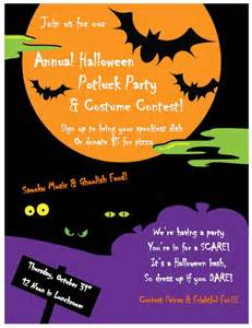 Halloween Potluck Invitation Ideas by Halloween Potluck Invitation Wording Ideas Festival