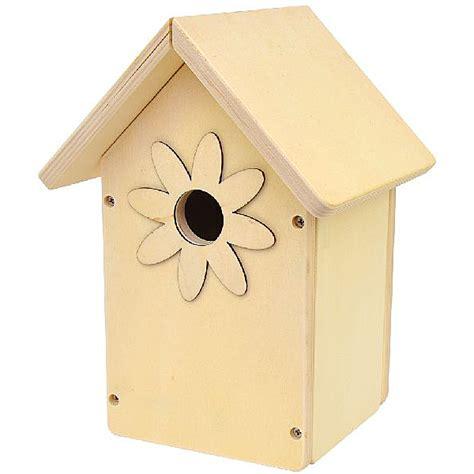 bastelwaren kaufen vogelhaus mit bauanleitung zum selber bauen