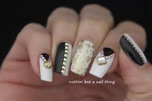 Nuthin but a nail thing black gold and white art