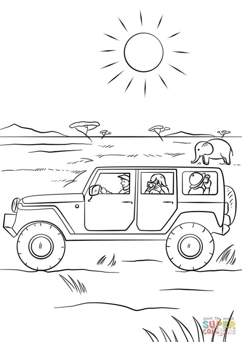 safari jeep coloring page safari jeep coloring page free printable coloring pages