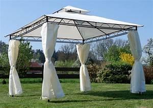 Pavillon 3x3 Dach : eleganter gartenpavillon pavillon 3x3 meter 9m dach 100 wasserdicht uv30 mit 4 vorh ngen ~ Orissabook.com Haus und Dekorationen