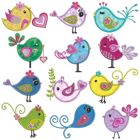 Machine Applique Designs by Birds Machine Applique Embroidery Patterns 12