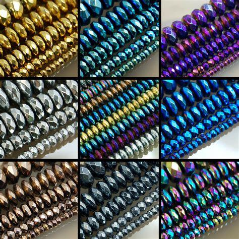 "Faceted Hematite Gemstone Rondelle Beads 16"" 3mm 4mm 6mm. Line Necklace. 3 5 Carat Diamond. Pearls Earrings. Zirconium Diamond1 Carat Earrings. Wire Bangle Bracelets. Blazer Brooch. Red Gold Bracelet. 24k Chains"