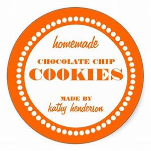 Round dot chocolate chip cookie label template round for Cookies label template