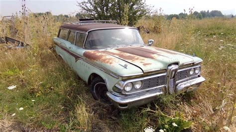 stored   edsel villager station wagon project