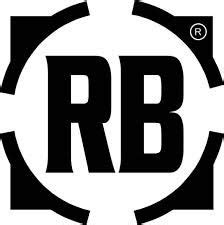 text logo  rb rich body   initials logo