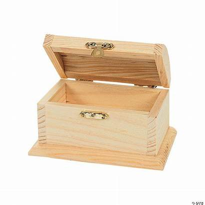 Treasure Diy Wood Boxes Unfinished Craft Chest