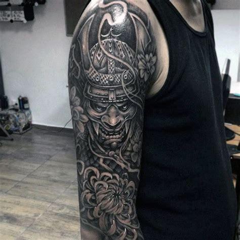 samurai helmet tattoo designs  men japanese ink ideas