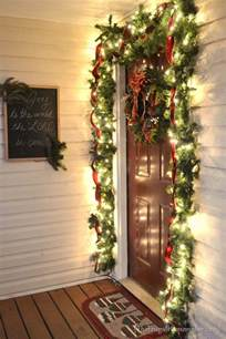 Small Christmas Trees For Front Porch by Our Christmas Front Porch With Hanging Candle Lanterns