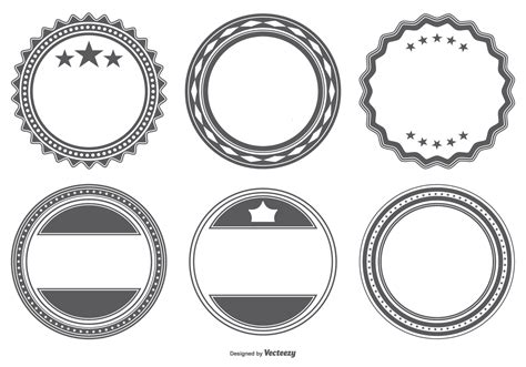 Blank Badge Template by Blank Vector Badge Shapes Free Vector