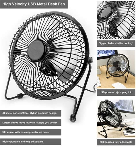 ventilateur bureau ventilateur de bureau usb haute puissance métal