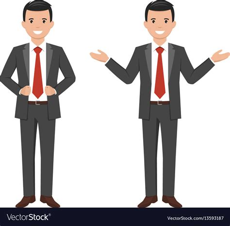 a style smiling businessman vector