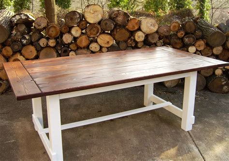 farm style outdoor dining tables with reclaimed wood