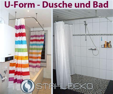 winkel duschvorhangstange u form wand deckenbefestigung ebay