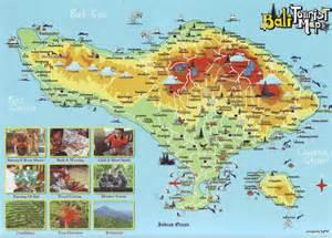 Bali Tourist Attraction Map