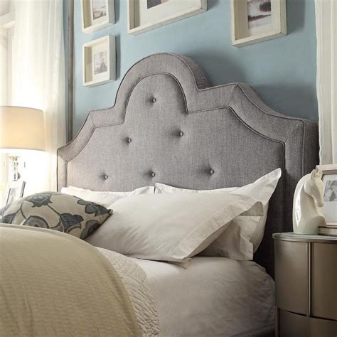 size tufted headboard inspire q tufted high arching linen upholstered