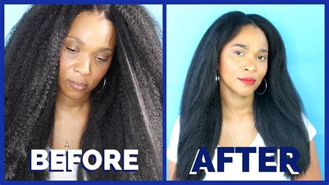 The Quickest Kinky Straight Crochet Braids Style! Ll Ft