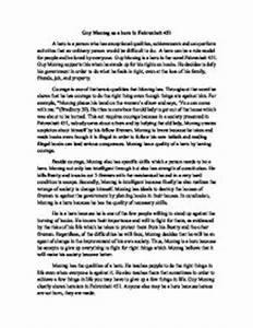 Fahrenheit  Essay Thesis Esl Custom Essay Writing Website  Fahrenheit  Thesis Statement For Essay Example How To Write A Persuasive  Essay On Body Image