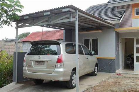 contoh gambar carport minimalis sederhana carport rumah