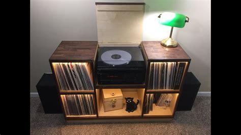 diy record player cabinet record player cabinet walnut birch diy build youtube