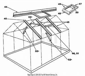 Troy Bilt 11450 Elite  8 U0026 39  X 6 U0026 39   Greenhouse Parts Diagram