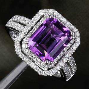 vvs dark purple amethyst diamond 511ct 14k white gold With purple wedding ring