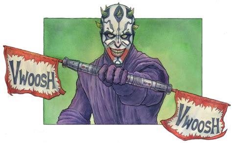 darth joker star wars  batman mashup art