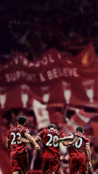 Liverpool Lfc Wallpapers Iphone Trio League Champions