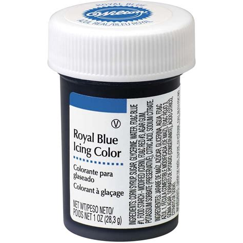 royal blue gel food coloring icing color wilton