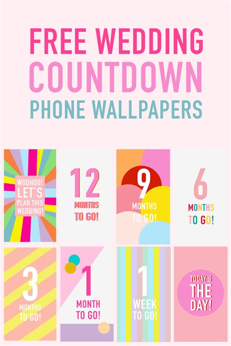 these free phone wallpapers to countdown your wedding free printables bespoke wedding