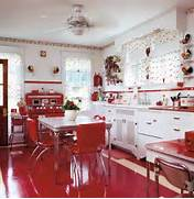 Kitchen Design Red And White by Red And White Country Kitchen Home Design Elements