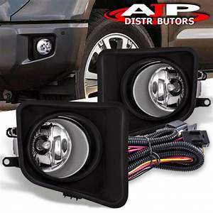 Front Driving Fog Lights Lamps Clear  Wiring Harness For