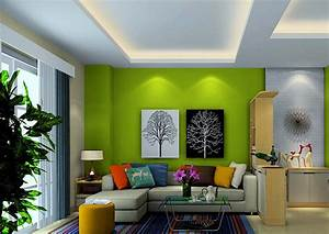 Light green tv wall and ceiling in living room download