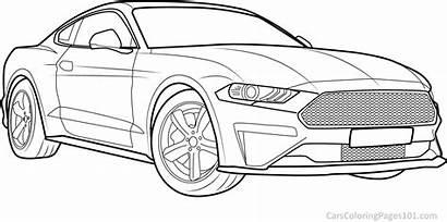 Mustang Ford Coloring Bullitt Adult Sheets Printable