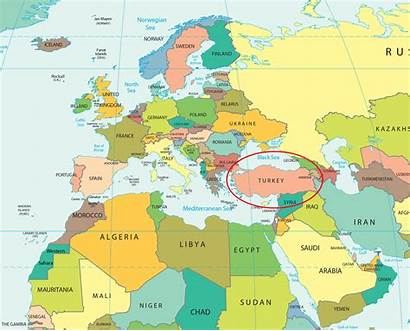 Turkey Map Countries Surrounding Located Country Africa