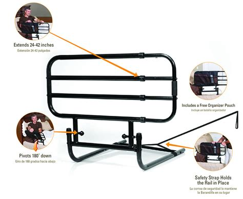 stander bed rail stander 8000 ez adjust bed rail
