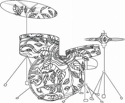 Coloring Pages Musical Drum Instruments Band Sheets