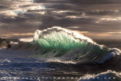 Rough Sea Burst Waves Wave Perfect Making