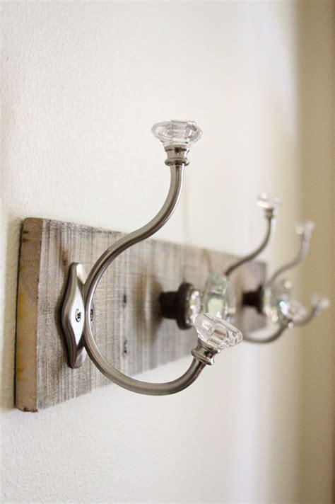 the door coat rack pallet coat rack glass door knob repurpose beingbrook