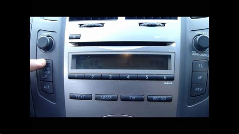 toyota yaris cd playerstereo youtube